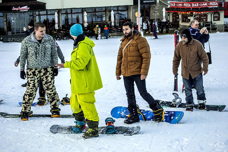 Standard full snowboard pack