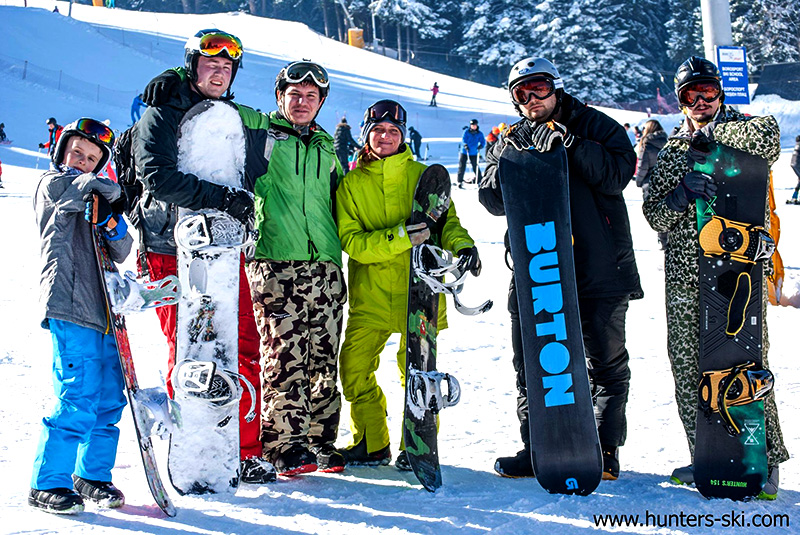 Standard snowboard hire + lift pass