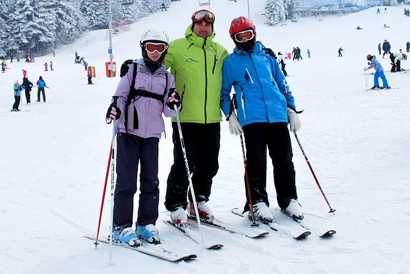 Premium skis + poles